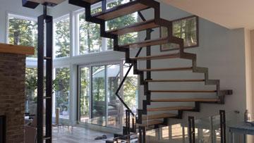 Escalier contemporain balancé