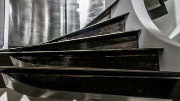 Escalier contemporain tournant