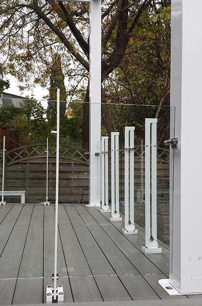 Garde corps blanc pour terrasse