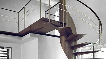 Escalier en colimaçon au design moderne et contemporain