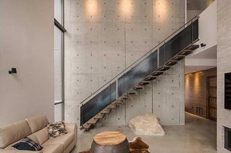 Garde corps escalier design contemporain