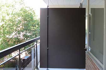 Séparateur balcon en métal