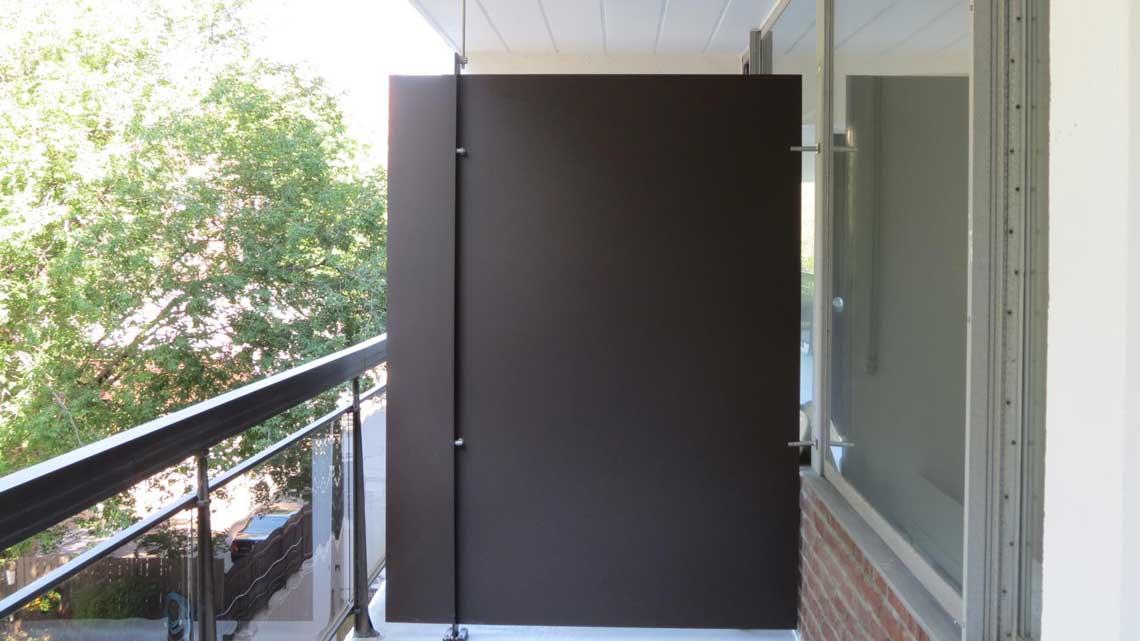 Séparateur de balcon en métal