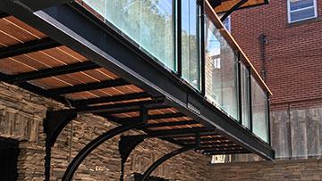 Structure métallique balcon